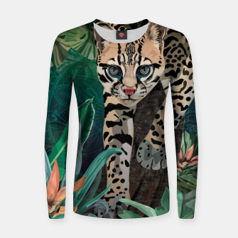 Thumbnail image of Ocelot Woman cotton sweater, Live Heroes