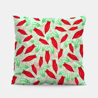 Thumbnail image of Red Hot Chilli Pepper Decorative Food Art Pillow, Live Heroes
