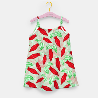 Thumbnail image of Red Hot Chilli Pepper Decorative Food Art Girl's dress, Live Heroes