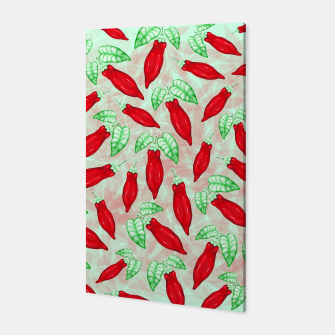 Thumbnail image of Red Hot Chilli Pepper Decorative Food Art Canvas, Live Heroes