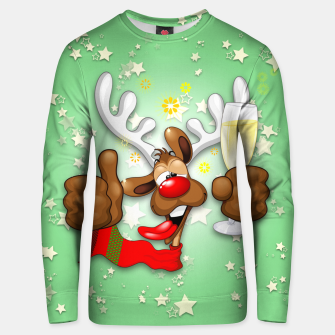 Thumbnail image of Reindeer Drunk Funny Christmas Character Cotton sweater, Live Heroes