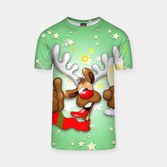 Thumbnail image of Reindeer Drunk Funny Christmas Character T-shirt, Live Heroes