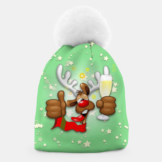 Thumbnail image of Reindeer Drunk Funny Christmas Character Beanie, Live Heroes
