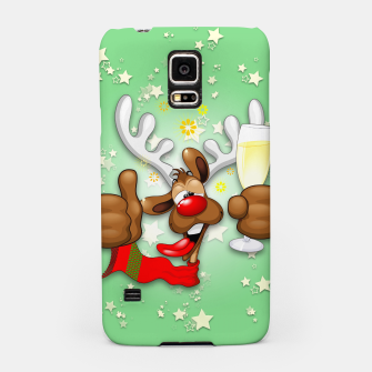 Thumbnail image of Reindeer Drunk Funny Christmas Character Samsung Case, Live Heroes