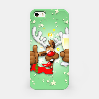 Thumbnail image of Reindeer Drunk Funny Christmas Character iPhone Case, Live Heroes