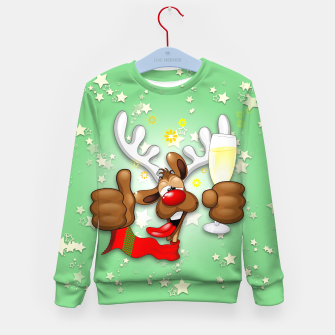 Thumbnail image of Reindeer Drunk Funny Christmas Character Kid's sweater, Live Heroes