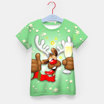 Thumbnail image of Reindeer Drunk Funny Christmas Character Kid's t-shirt, Live Heroes