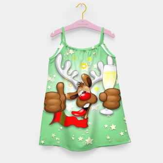 Thumbnail image of Reindeer Drunk Funny Christmas Character Girl's dress, Live Heroes