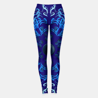 Thumbnail image of Puka ʻeleʻele in autumn Leggings, Live Heroes