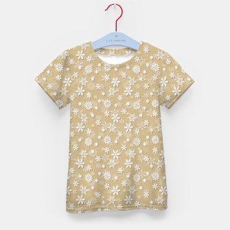 Miniatur Festive Gold and White Christmas Holiday Snowflakes Kid's t-shirt, Live Heroes