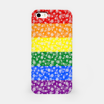 Thumbnail image of Christmas Pride Bright Festive Rainbow Snowflakes iPhone Case, Live Heroes