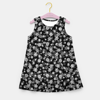 Thumbnail image of Festive Black and White Christmas Holiday Snowflakes Girl's summer dress, Live Heroes
