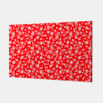 Thumbnail image of Festive Red and White Christmas Holiday Snowflakes Canvas, Live Heroes