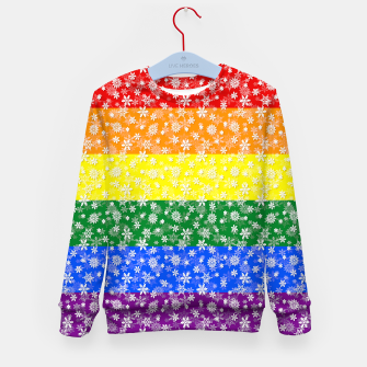 Thumbnail image of Christmas Pride Bright Festive Rainbow Snowflakes Kid's sweater, Live Heroes
