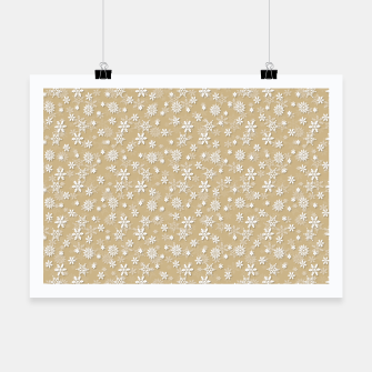 Thumbnail image of Festive Gold and White Christmas Holiday Snowflakes Poster, Live Heroes