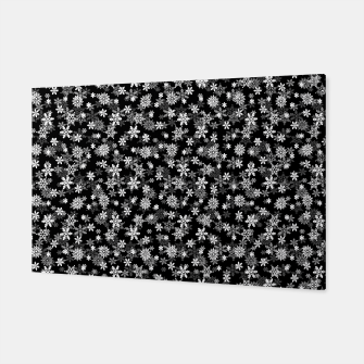 Thumbnail image of Festive Black and White Christmas Holiday Snowflakes Canvas, Live Heroes