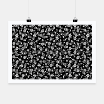 Thumbnail image of Festive Black and White Christmas Holiday Snowflakes Poster, Live Heroes