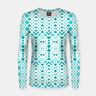 Thumbnail image of Geometric Webbing Woman cotton sweater, Live Heroes