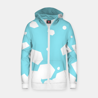 Thumbnail image of Rockery on Blue Cotton zip up hoodie, Live Heroes