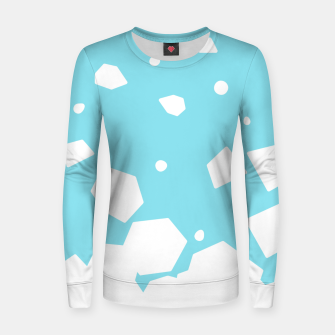 Thumbnail image of Rockery on Blue Woman cotton sweater, Live Heroes