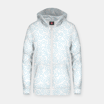 Thumbnail image of Swirls and Curls Cotton zip up hoodie, Live Heroes