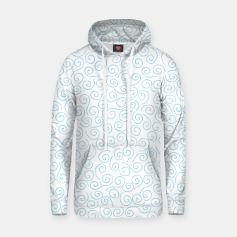 Thumbnail image of Swirls and Curls Cotton hoodie, Live Heroes