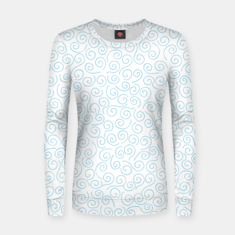 Thumbnail image of Swirls and Curls Woman cotton sweater, Live Heroes