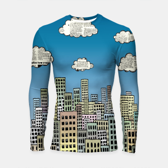 Imagen en miniatura de The City of Paper Clouds Longsleeve rashguard , Live Heroes