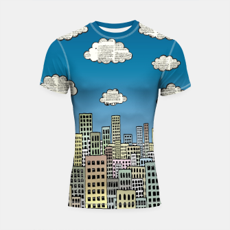 Imagen en miniatura de The City of Paper Clouds Shortsleeve rashguard, Live Heroes