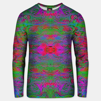 Thumbnail image of Hidden Clown's Playroom (abstract, psychedelic, trippy, fluorescent) Cotton sweater, Live Heroes