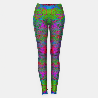Thumbnail image of Hidden Clown's Playroom (abstract, psychedelic, trippy, fluorescent) Leggings, Live Heroes