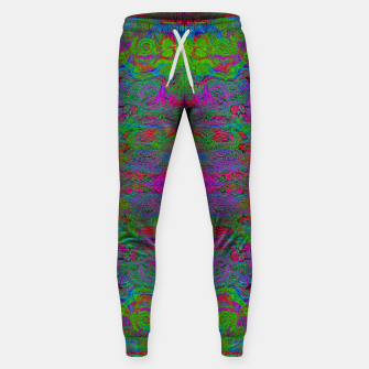 Thumbnail image of Hidden Clown's Playroom (abstract, psychedelic, trippy, fluorescent) Cotton sweatpants, Live Heroes