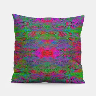 Thumbnail image of Hidden Clown's Playroom (abstract, psychedelic, trippy, fluorescent) Pillow, Live Heroes