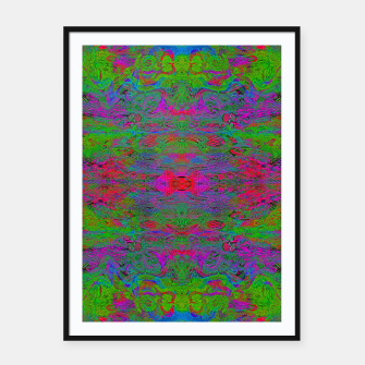 Thumbnail image of Hidden Clown's Playroom (abstract, psychedelic, trippy, fluorescent) Framed poster, Live Heroes