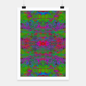 Thumbnail image of Hidden Clown's Playroom (abstract, psychedelic, trippy, fluorescent) Poster, Live Heroes