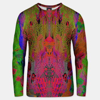 Sugar Skull and Girly Corks (Ultraviolet) (psychedelic, abstract, fluorescent) Cotton sweater thumbnail image