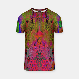 Sugar Skull and Girly Corks (Ultraviolet) (psychedelic, abstract, fluorescent) T-shirt thumbnail image