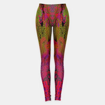 Sugar Skull and Girly Corks (Ultraviolet) (psychedelic, abstract, fluorescent) Leggings thumbnail image