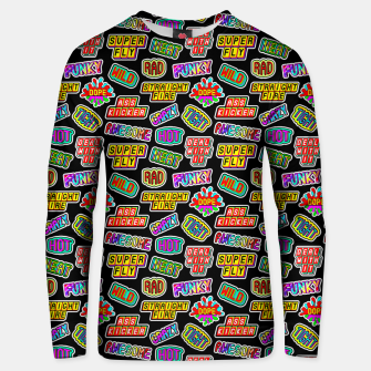 Thumbnail image of Funky pattern #06 Cotton sweater, Live Heroes