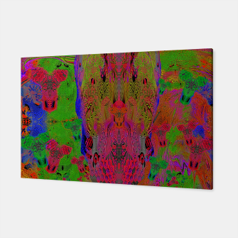 Sugar Skull and Girly Corks (Ultraviolet) (psychedelic, abstract, fluorescent) Canvas thumbnail image