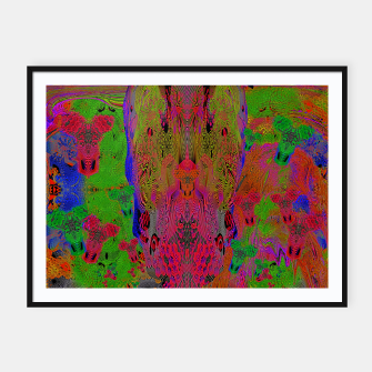 Sugar Skull and Girly Corks (Ultraviolet) (psychedelic, abstract, fluorescent) Framed poster thumbnail image