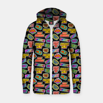 Thumbnail image of Funky pattern #06 Cotton zip up hoodie, Live Heroes