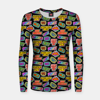 Thumbnail image of Funky pattern #06 Woman cotton sweater, Live Heroes