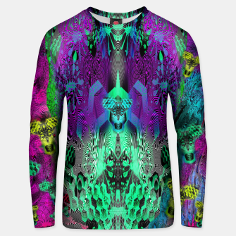 Thumbnail image of Sugar Skull and Girly Corks (abstract, psychedelic, trippy) Cotton sweater, Live Heroes
