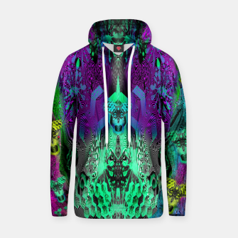 Thumbnail image of Sugar Skull and Girly Corks (abstract, psychedelic, trippy) Cotton hoodie, Live Heroes