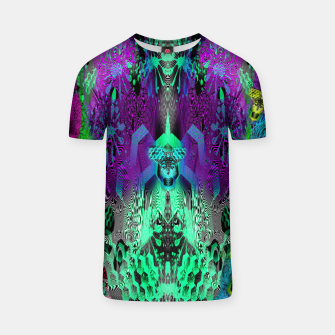 Thumbnail image of Sugar Skull and Girly Corks (abstract, psychedelic, trippy) T-shirt, Live Heroes
