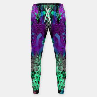 Thumbnail image of Sugar Skull and Girly Corks (abstract, psychedelic, trippy) Cotton sweatpants, Live Heroes