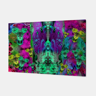 Thumbnail image of Sugar Skull and Girly Corks (abstract, psychedelic, trippy) Canvas, Live Heroes