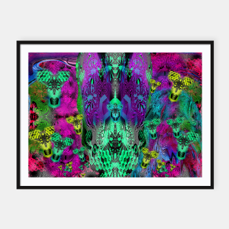 Thumbnail image of Sugar Skull and Girly Corks (abstract, psychedelic, trippy) Framed poster, Live Heroes