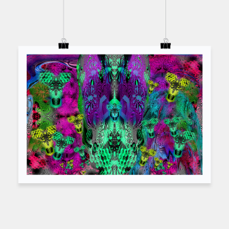 Thumbnail image of Sugar Skull and Girly Corks (abstract, psychedelic, trippy) Poster, Live Heroes